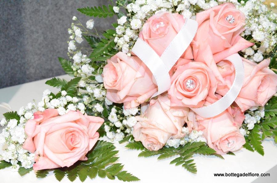 Bouque per sposa e bottoniera sposo brescia