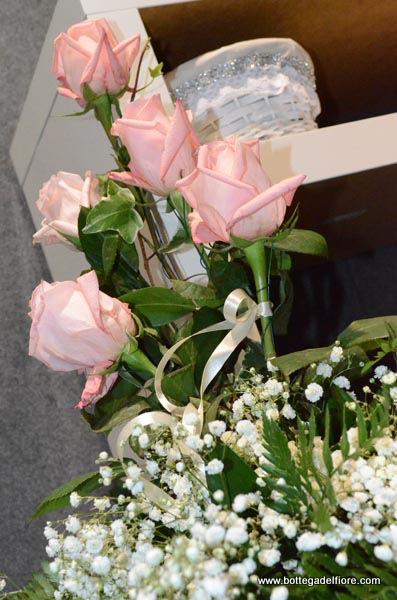 addobbo per matrimonio con rose