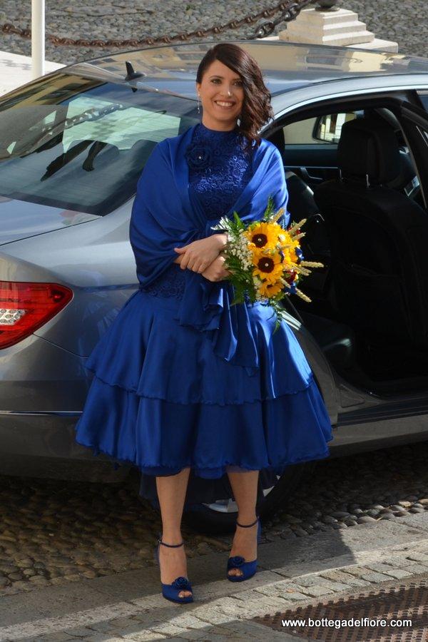bouquet per sposa con girasoli