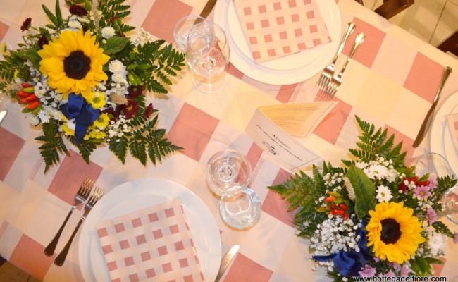 centrotavola per matrimonio al ristorante